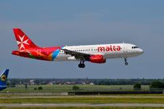 Air Malta Airbus A320. Boryspil International Airport / Ukraine - May, 26, 2018: Air Malta Airbus A320-200 9H-AEN Stock Image