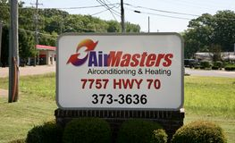 Air Masters Air Conditioning and Heating Royalty Free Stock Images