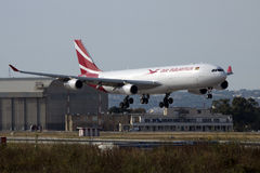Air Mauritius A330 arriving for maintenance Royalty Free Stock Photos