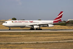 Air Mauritius A330 arriving for maintenance Stock Image