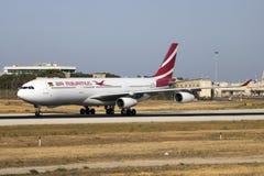 Air Mauritius A330, das für Wartung ankommt Lizenzfreie Stockbilder