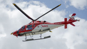 Air Mercy Service Helicopter in flight Stock Photos