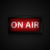 ON AIR message  studio sign Royalty Free Stock Images