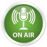 On air (mic icon) premium soft green round button Royalty Free Stock Photography
