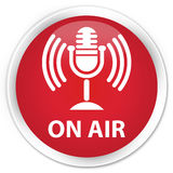On air (mic icon) premium red round button Stock Images