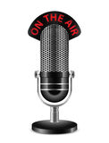 On The Air. Microphone Royalty Free Stock Image