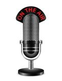On The Air Microphone. Vector illustration Royalty Free Stock Photos