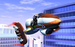 Air motorcycle Royalty Free Stock Image
