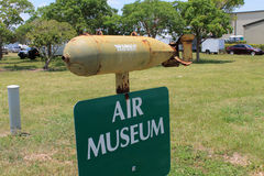 Air museum sign and bomb Stock Photography