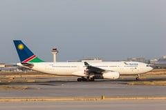 Air Namibia Aerobus A330-200 przy Frankfut lotniskiem Obraz Stock