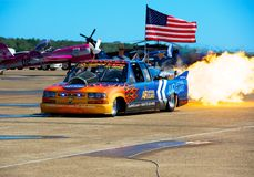 Air National Guard Jet Truck Royalty Free Stock Photography
