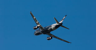 Air New Zealand A320 fou au sujet du rugby Photographie stock libre de droits