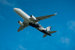 Air New Zealand Airbus A320 in flight Stock Images