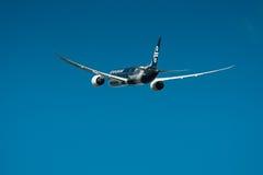 Air New Zealand Boeing 787-9 en vuelo imagen de archivo libre de regalías