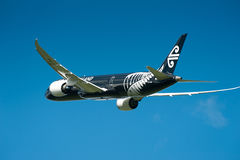 Air New Zealand Boeing 787-9 in flight Royalty Free Stock Photo