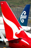 Air New Zealand e Qantas Foto de Stock