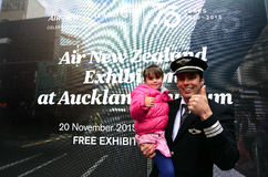 Air New Zealand pilota Foto de Stock Royalty Free