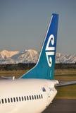 Air- New Zealandflugzeuge in Christchurch Stockfotos