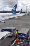 Air- New Zealandladung-Handhaben, Auckland-Flughafen stockbilder
