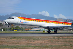 Air Nostrum - Alicante flygplats arkivbild