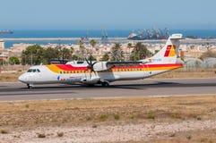 Air Nostrum ATR 72 Fotografering för Bildbyråer