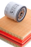 Air and oil filter Royalty Free Stock Photo