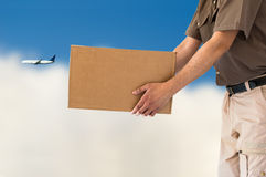 Air parcel delivery service Royalty Free Stock Photo