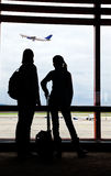 Air passengers waiting for the flight Royalty Free Stock Image