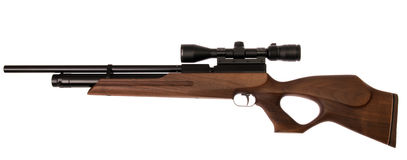 Air PCP rifle isolated Royalty Free Stock Photography