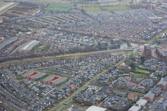 Air photo. Purmerend is a municipality and a city in the Netherlands, in the province of North Holland. The city is surrounded by polders, such as the Purmer Stock Photo