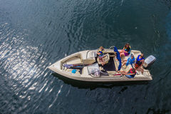 Air Photo Ski-Boat Teenagers Boys Girls Stock Images