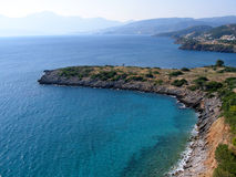 Air photograph, Amoudara Beach, Agios Nikolaos, Crete, Greece Stock Images