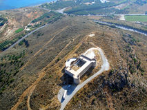 Air photograph, Aptera Koules fort, Crete, Greece Royalty Free Stock Images