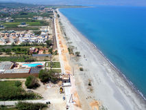 Air photograph, Gerani Beach, Chania, Crete, Greece Stock Photography