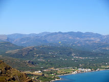 Air photograph, Kissamos, Chania, Crete, Greece Royalty Free Stock Images