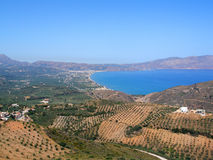 Air photograph, Kissamos, Chania, Crete, Greece Stock Images