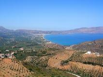 Air photograph, Kissamos, Chania, Crete, Greece Stock Images