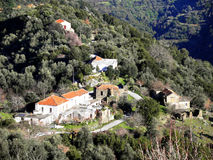 Air photograph, Lakki, Omalos, Lefka Ori, Chania, Crete, Greece Royalty Free Stock Photo