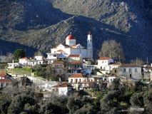 Air photograph, Lakki, Omalos, Lefka Ori, Chania, Crete, Greece Royalty Free Stock Images
