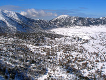 Air photograph, Omalos, Lefka Ori, Chania, Crete, Greece Royalty Free Stock Photography