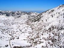 Air photograph, Omalos, Lefka Ori, Chania, Crete, Greece Stock Photos