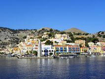 Air photograph, Simi Island, Greece Royalty Free Stock Photo