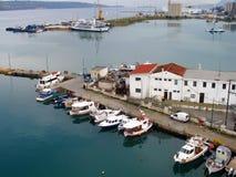 Air photograph, Souda Bay, Chania, Crete, Greece. Aerial View of Souda Bay, Chania, Crete, Greece Stock Photos