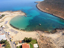 Air photograph, Stavros Beach, Chania, Crete, Greece Royalty Free Stock Photo