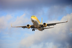 Air plane. The air plane is landing Royalty Free Stock Photography