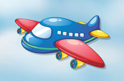 Air plane. Illustration of air plane flying in the sky Royalty Free Stock Image