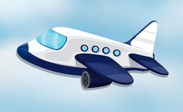 Air plane. Illustration of air plane on a white background Royalty Free Stock Photos
