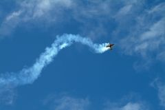 Air plane aerobatics Royalty Free Stock Photography