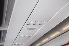Air plane air conditioner cold light stock photo