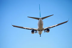 Air plane. The air plane is arriving Stock Images